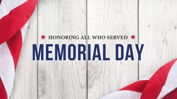 Memorial Day Facility Hours