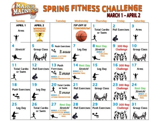 March Madness Spring Fitness Challenge @ Lakeland Hills Family YMCA | Mountain Lakes | New Jersey | United States