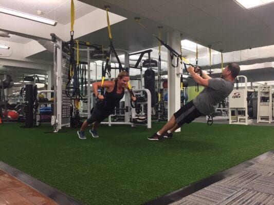 TRX in use